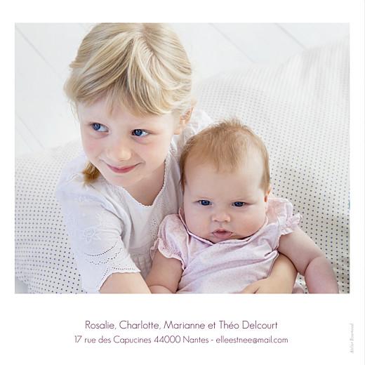 Faire-part de naissance Simple 3 photos blanc - Page 4