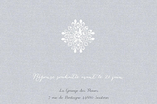 Carton d'invitation mariage Grâce gris - Page 2