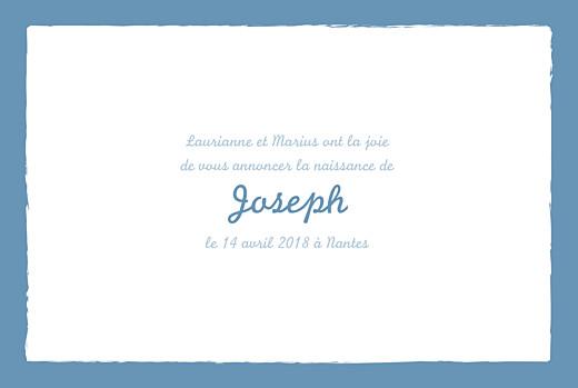 Faire-part de naissance Cheval paysage photo 4 pages bleu prusse