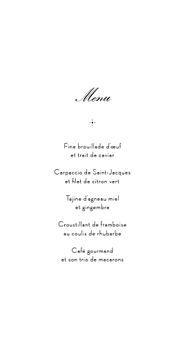 Menu de mariage Boudoir dentelle (4 pages) beige blanc - Page 3