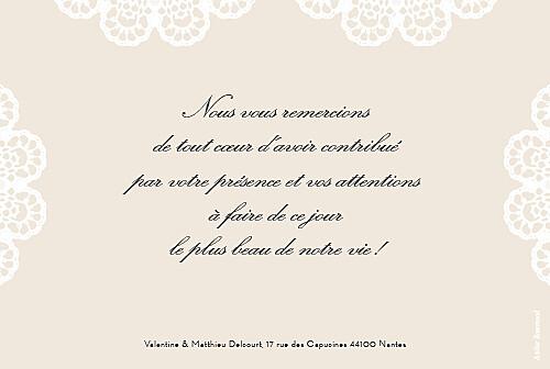 Carte De Remerciement Mariage Boudoir Dentelle Rosemood Be