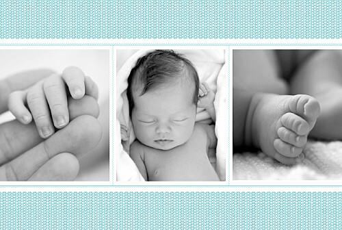 Faire-part de naissance Accolades 3 photos bleu - Page 2