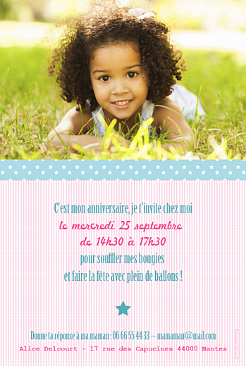 Carte d'anniversaire Pop photo anniv rose - Page 2