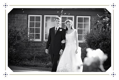 Carte de remerciement mariage Rétro bleu bronze