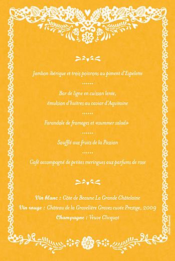 Menu de mariage Papel picado soleil - Page 2