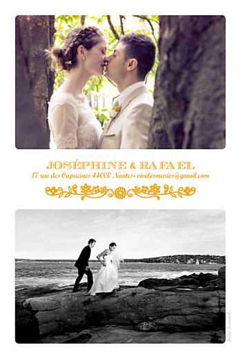 Carte de remerciement mariage Papel picado (portrait) soleil - Page 2
