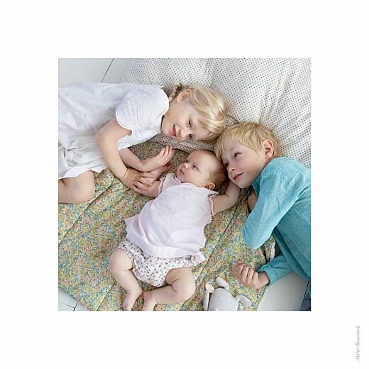 Faire-part de naissance Justifié photo bleu - Page 2