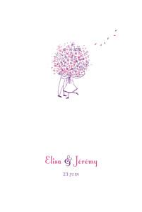 Menu de mariage Bouquet lilas