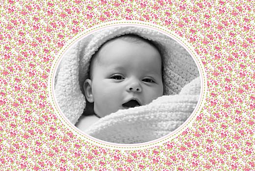 Faire-part de naissance Liberty écusson paysage photo rose - Page 2
