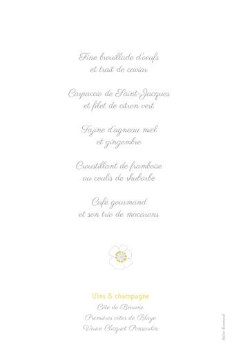 Menu de baptême Couronne de fleurs ocre - Page 2