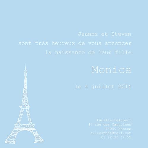 Faire-part de naissance Bilingue france-italie bleu dragée - Page 2