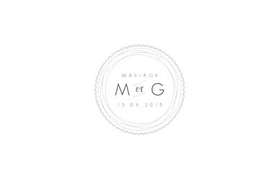 Carton d'invitation mariage Design blanc finition