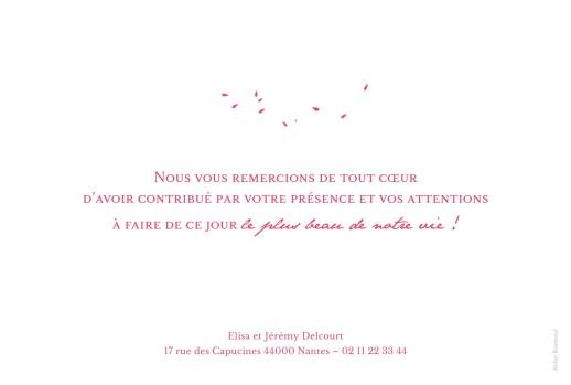 Carte de remerciement mariage Bouquet paysage rouge - Page 2