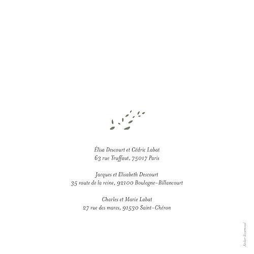 Faire-part de mariage Floraison bleu rose - Page 4