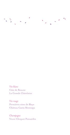 Menu de mariage Bouquet (4 pages) lilas - Page 2