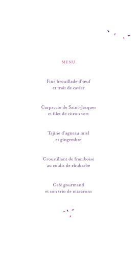 Menu de mariage Bouquet (4 pages) lilas - Page 3