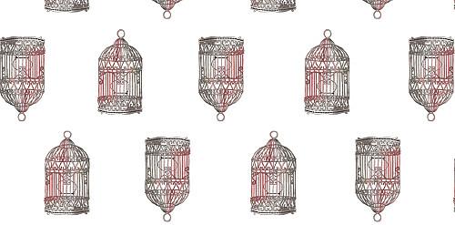 Marque-place mariage Cage à oiseaux rouge - Page 2