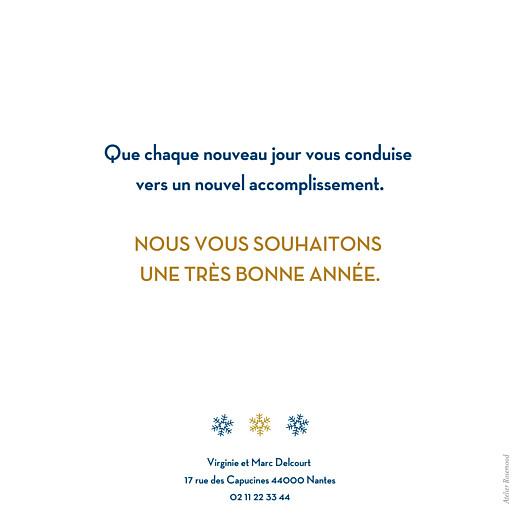 Carte de voeux Flocons bleu or - Page 2
