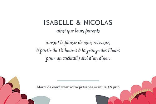 Carton d'invitation mariage Jardin bohème rouge - Page 1