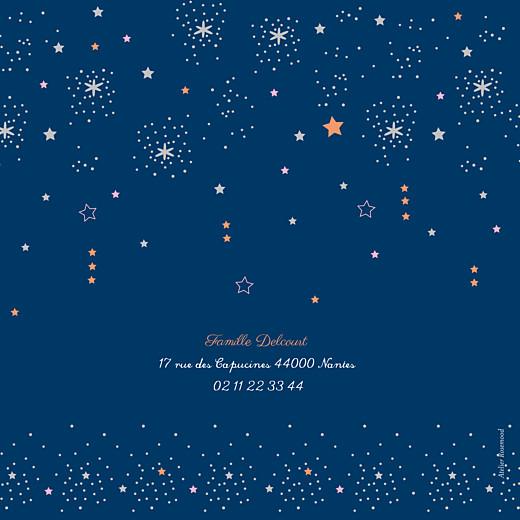 Carte de voeux Étoiles bleu nuit rose - Page 4