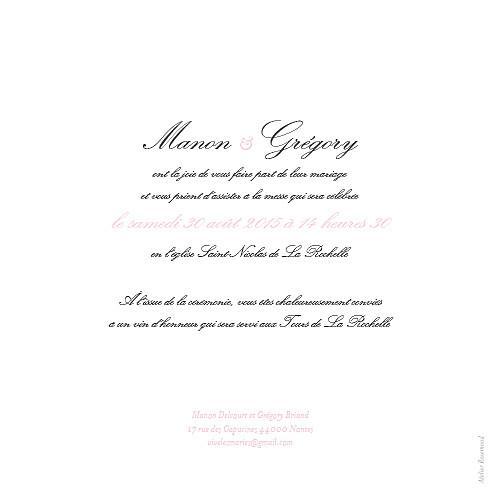 Faire-part de mariage Gourmand rose - Page 2