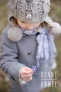 Carte de voeux marianne fournigault bonne année (portrait) blanc