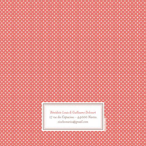 Faire-part de mariage Motif chic (4 pages) corail - Page 4