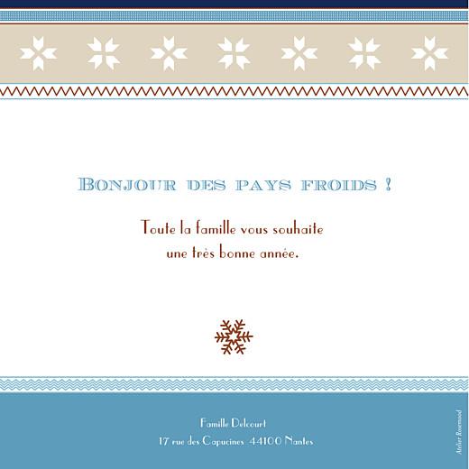 Carte de voeux Nordik bleu - Page 2