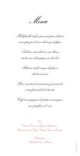 Menu de mariage Gourmand raffiné rose - Page 2