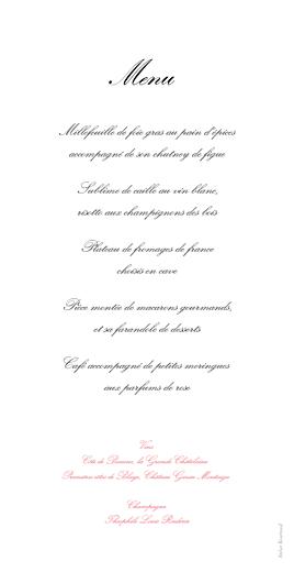 Menu de mariage Gourmand rayé rose - Page 2