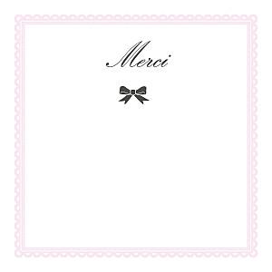 Carte de remerciement tradition petit versailles photo rose