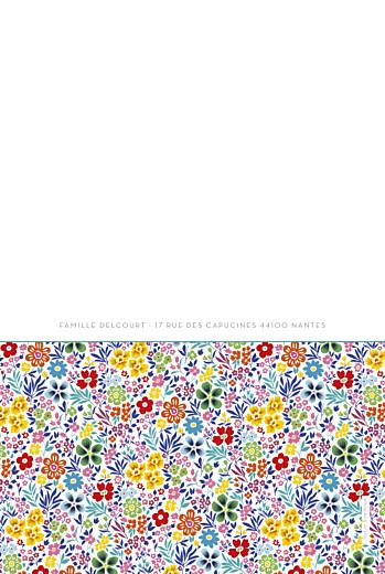 Faire-part de naissance Mille fleurs 4 photos jaune & rouge - Page 4