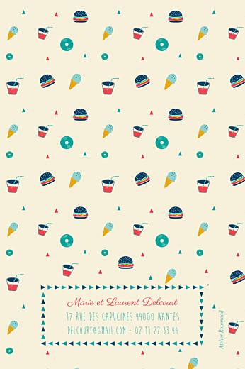 Carte d'anniversaire Burger party photo beige - Page 4