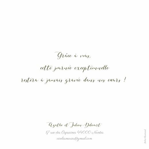 Carte de remerciement mariage Un grand merci blanc - Page 2