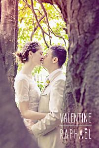 Carte de remerciement mariage marianne fournigault toi & moi (portrait) blanc