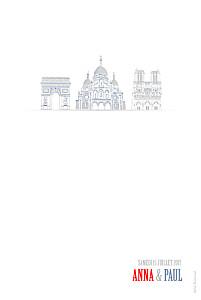 Carte de remerciement mariage louise pianetti paris photo bleu-rouge-gris