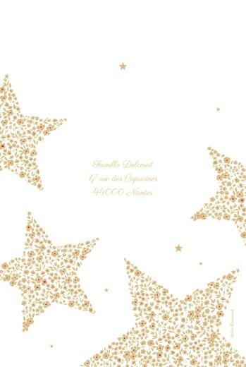 Carte de voeux Liberty étoiles doré