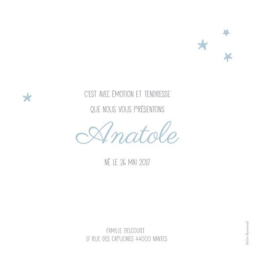 Faire-part de naissance Nuit étoilée photo bleu océan - Page 2