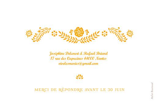 Carton réponse mariage Papel picado soleil - Page 2