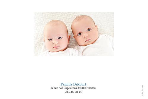 Faire-part de naissance Jumeaux 6 photos paysage blanc - Page 4