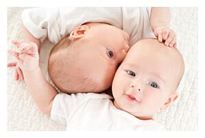 Faire-part de naissance bilingue jumeaux justifié 4 photos blanc