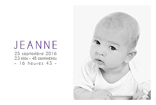 Faire-part de naissance Jumeaux justifié 4 photos blanc - Page 2