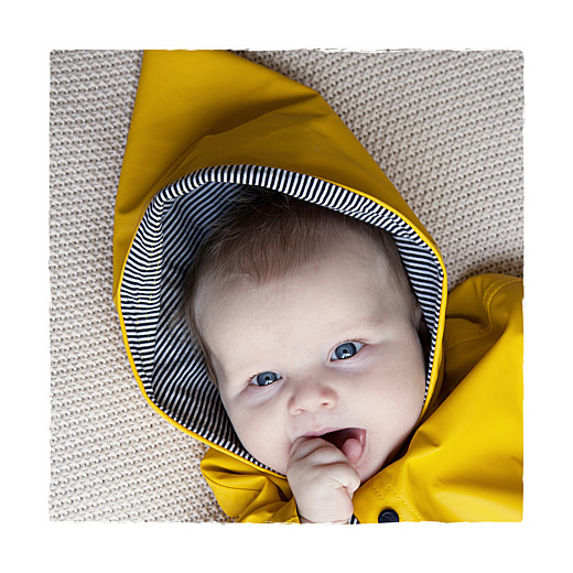 Faire-part de naissance Balade (1 enfant) photo beige jaune - Page 2