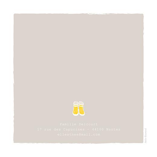 Faire-part de naissance Balade (1 enfant) photo beige jaune