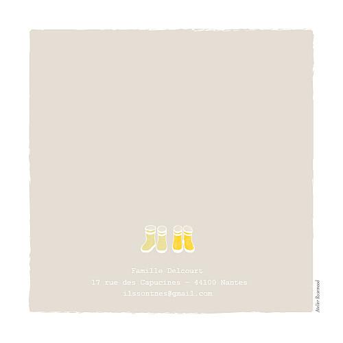 Faire-part de naissance Jumeaux balade photo beige jaune - Page 4