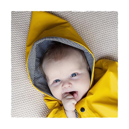 Faire-part de naissance Balade (2 enfants) photo blanc