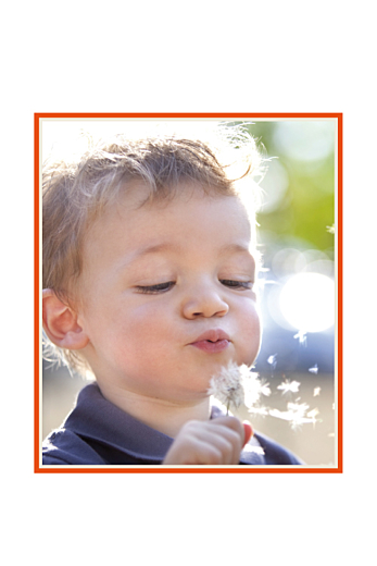 Carte d'anniversaire Nounours photo (4 pages) orange - Page 2