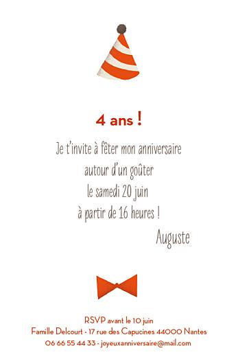 Carte d'anniversaire Nounours photo (4 pages) orange - Page 3