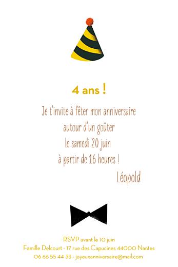 Carte d'anniversaire Lion photo (4 pages) jaune - Page 3