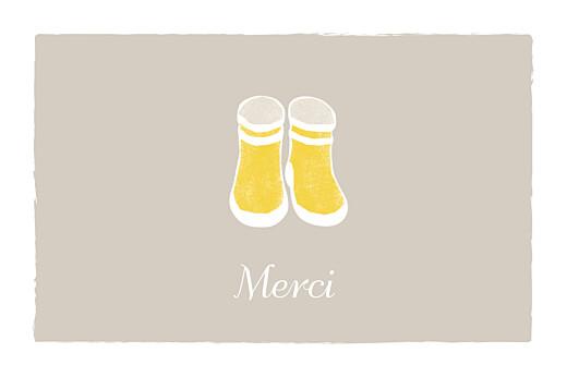 Carte de remerciement Merci balade beige jaune